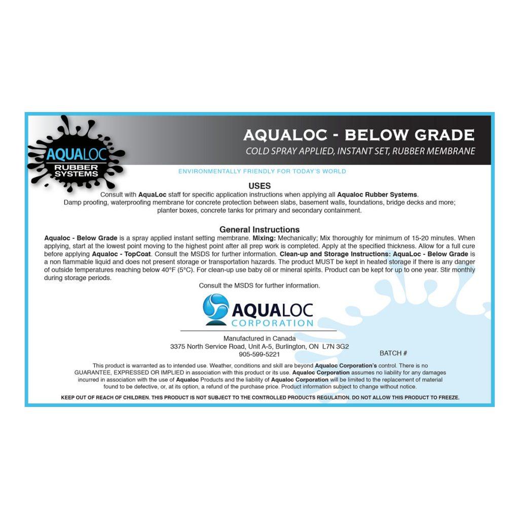 Below Grade/Damp Proofing